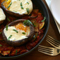 Baked Eggs in Mushrooms with Zucchini Ragout: Guest Post by Bridget