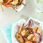 Grilled Shrimp & Sausage Kabobs with Apricot Chile Glaze Recipe {Rösle Utensils Giveaway}