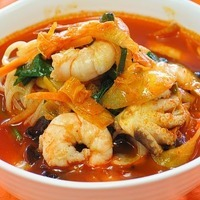 Image of Spicy Seafood Noodle Soup (samseon Cham Pong) Recipe, Cook Eat Share