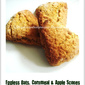 Eggless Oats, Cornmeal & Apple Scones