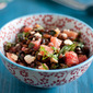 Black Barley, Purslane and Watermelon Salad