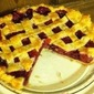 RECIPE: Almond Scented Sour Cherry Pie Variation with Rhubarb