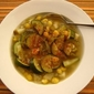 Zucchini and Hominy Soup