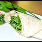 Chicken Wraps with Lemony Basil Dressing