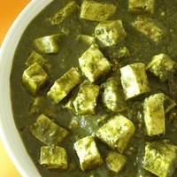 Palak Paneer (Cottage Cheese Curry with Spinach)