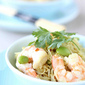Curry Rice Vermicelli with Shrimp & Edamame Recipe