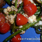 Asparagus with Cherry Tomatoes & Feta Cheese