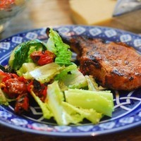 "Chipotle Rubbed Pork Rib Chops Grilled Using the ""Reverse Sear"" Method"
