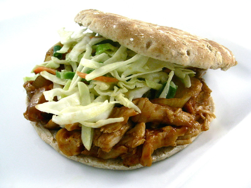 Oven Baked Skinny Shredded Barbecue Chicken Sandwiches, No Crock Pot ...