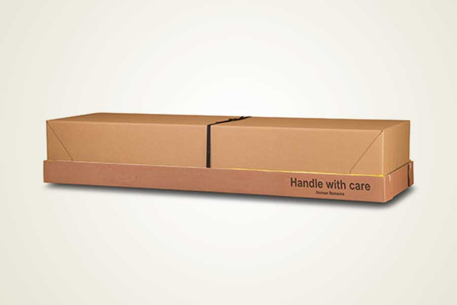 Basic Cardboard Cremation Container