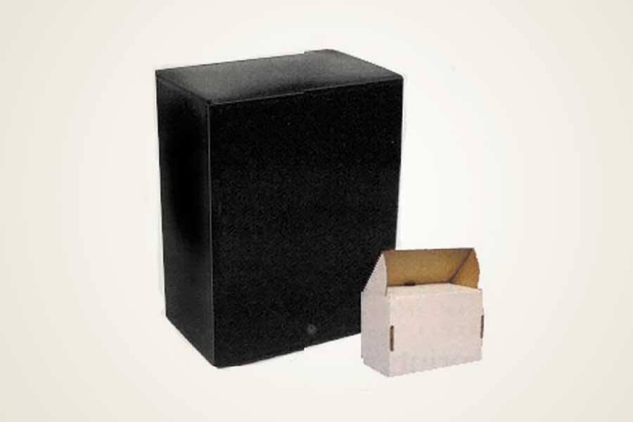 Black Plastic Box Urns