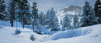 Winter Forest Projected Backdrop for A Christmas Carol, Forest, Landscapes, Nutcracker, Snow Backdrop Projections