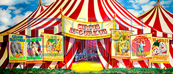 Circus McGurkus Projected Backdrop for Abstract, Exteriors, Seussical