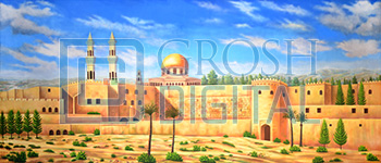 Biblical Landscape Projected Backdrop for Aladdin, Desert, Exteriors, Joseph and the Amazing..., Landscapes