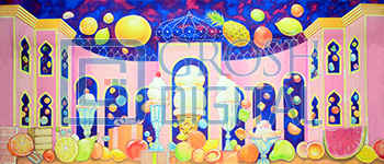 Land of the Sweets Projected Backdrop for Land of the Sweets, Nutcracker