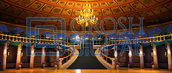 Ballroom Projected Backdrop for Addams Family, Beauty and the Beast, Castles, Cinderella, Frozen, Interiors, Little Mermaid, Nutcracker, Palace/Parlors, Sleeping Beauty