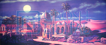 Arabian Nights Projected Backdrop for Aladdin, Desert, Exteriors, Joseph and the Amazing..., Palace/Parlors, Streets