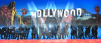 Hollywood Paparazzi Projected Backdrop for Dance, Hollywood