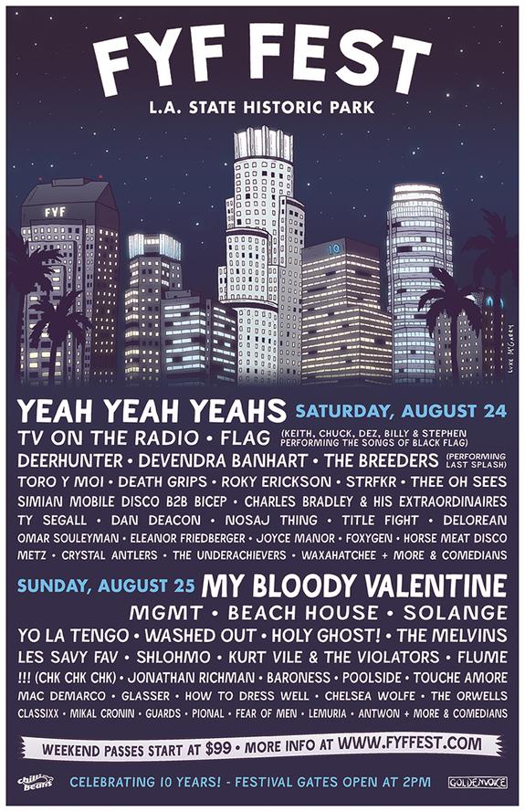 fyf fest, lineup, indie