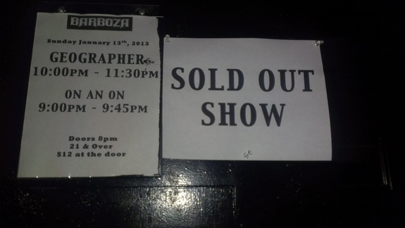 Geographer On An On Sold Out Seattle Barboza Show