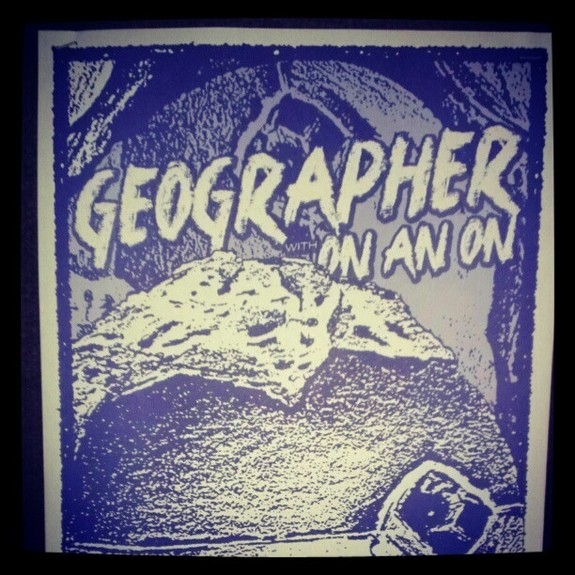 Geographer On An On Poster - Portland