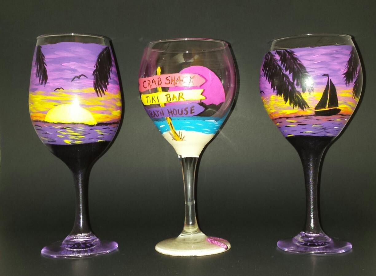 wine glass painting classes grovedale winery vineyard