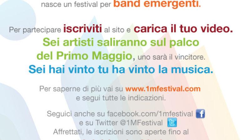 1MFestival, contest per gruppi emergenti
