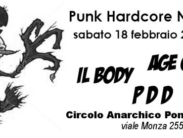 Punk Hardcore al CA Ponte della Ghisolfa