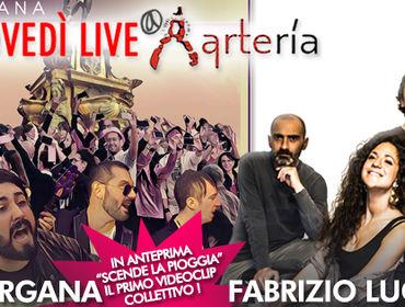 26 OTTOBRE: FABRIZIO LUGLIO E MORGANA LIVE ALL'ARTERĺA DI BOLOGNA!