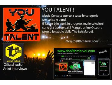 YOU TALENT! concorso musicale aperto a tutti i generi cantanti e musicisti