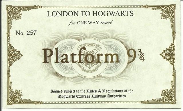 Билет на поезд в хогвартс своими руками 75