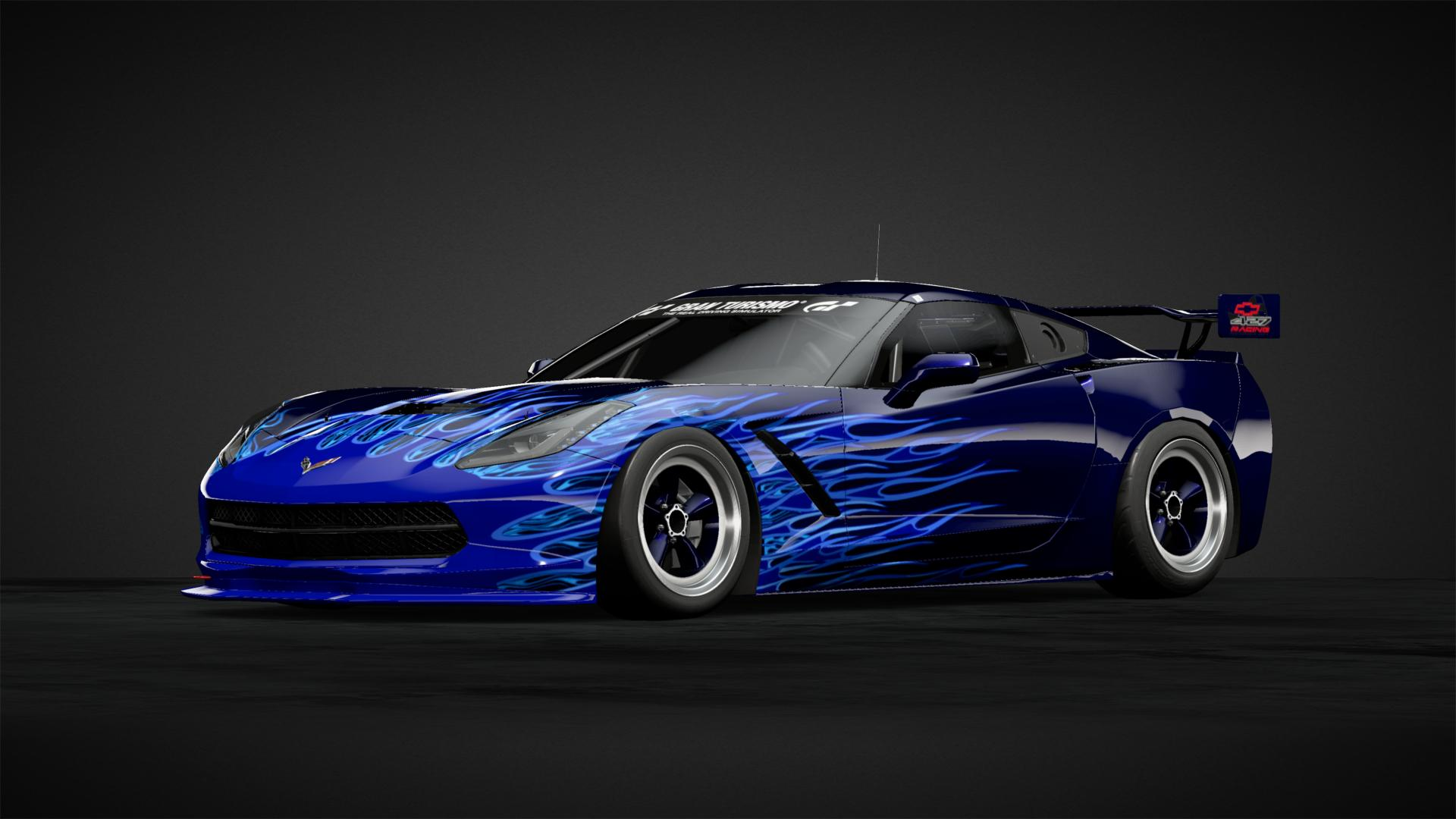 Zfactor527 Blue Flame Vette Car Livery By Z Factor572 Community Gran Turismo Sport