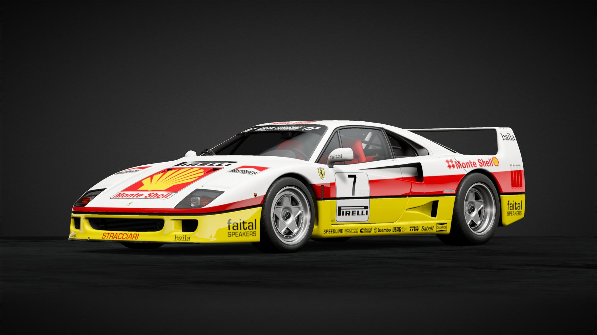 Ferrari F40 Monte Shell Car Livery By Belfour Community Gran Turismo Sport