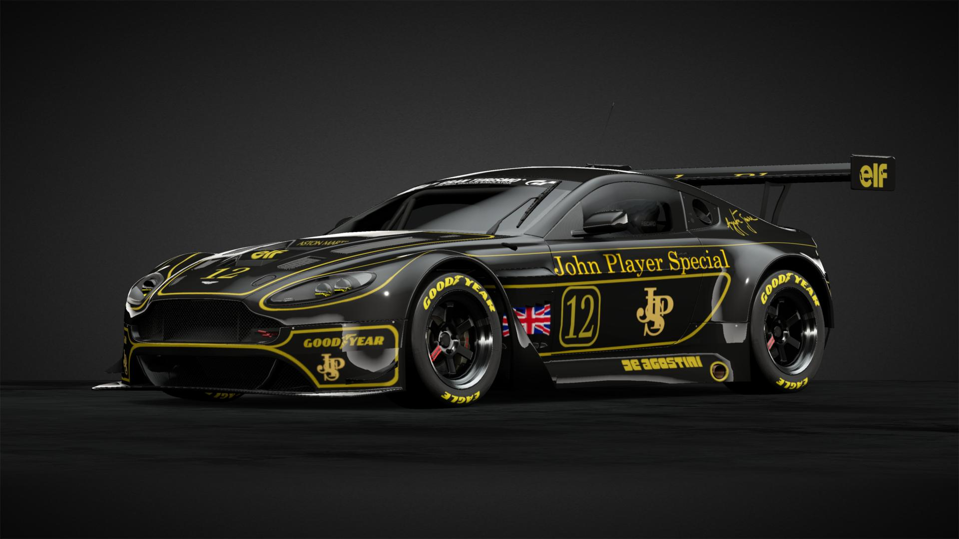 john player special vantage gt3 car livery by lupin97. Black Bedroom Furniture Sets. Home Design Ideas