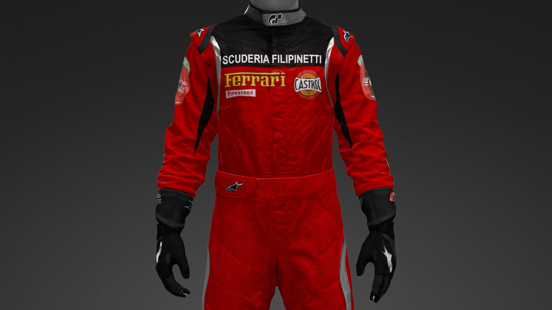 Old Ferrari Racing Suit Suit Livery By Pmwmp Community Gran Turismo Sport