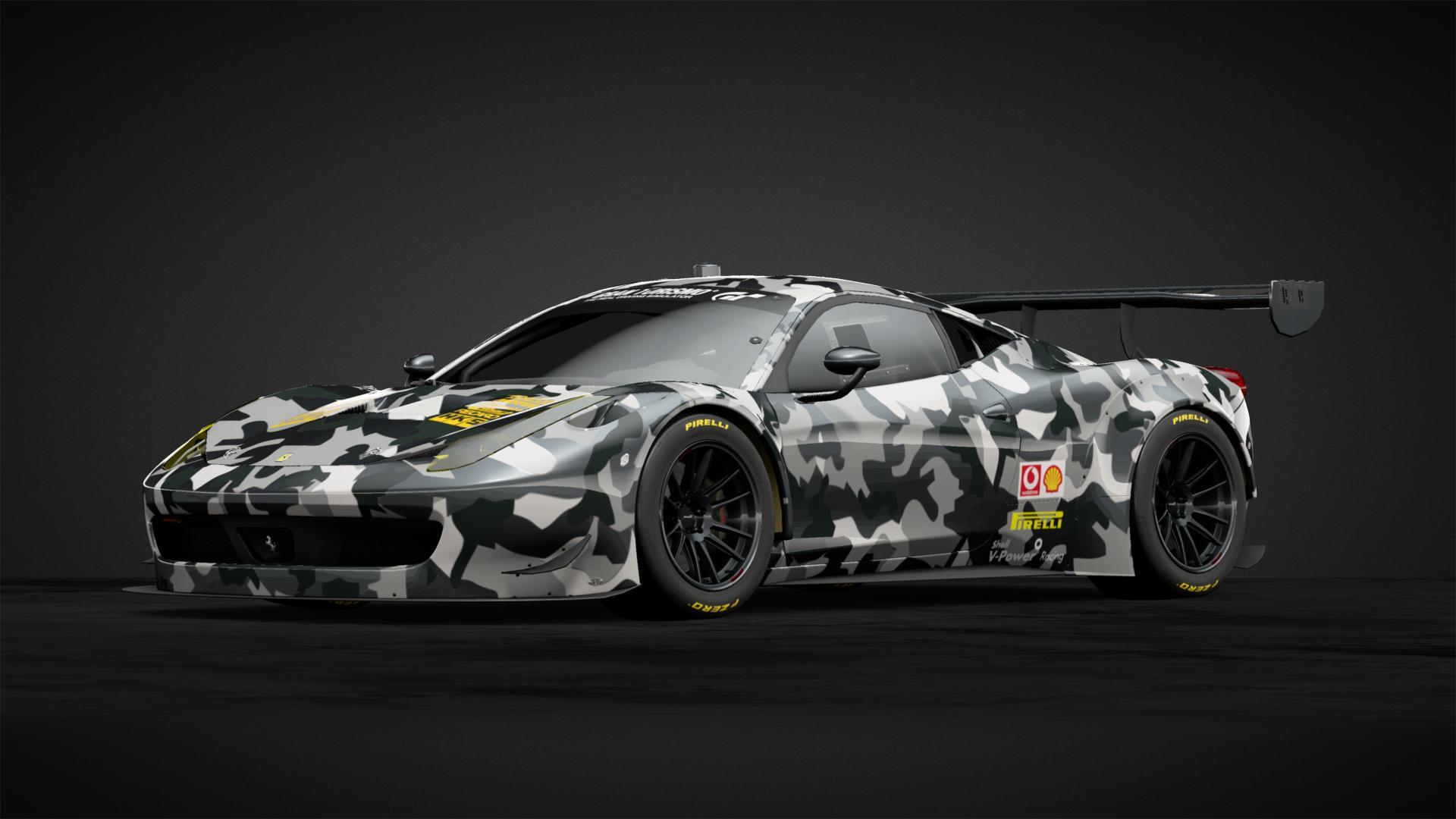 Ferrari 458 Gt3 Grey Camouflage Car Livery By Joper88 Community Gran Turismo Sport