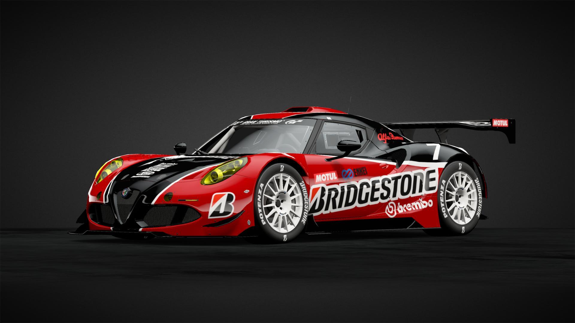 Bridgestone Alfa Romeo 4c Gt3 Car Livery By Exmxols3n Community Gran Turismo Sport