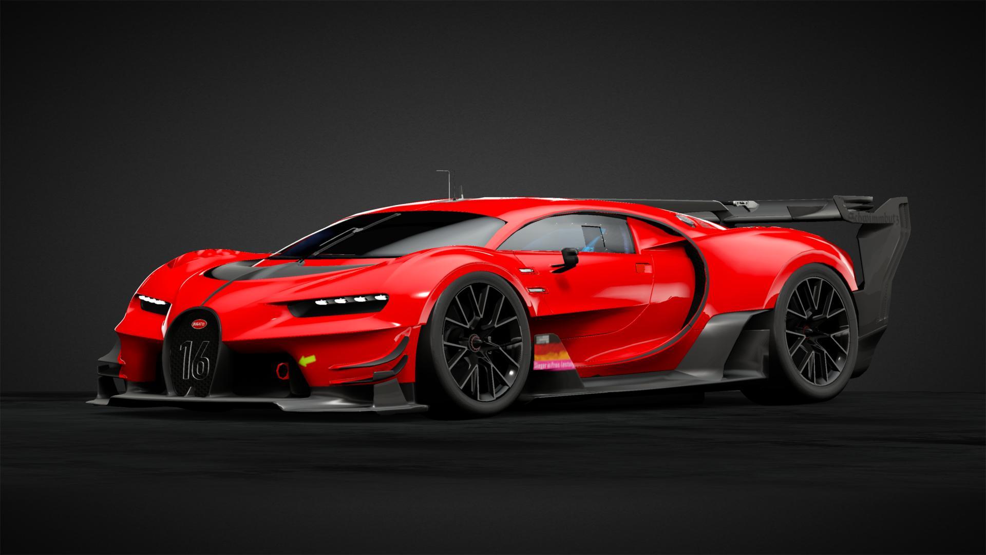 Bugatti Vgt Gr 1 Red Black Car Livery By Staenzer Community Gran Turismo Sport
