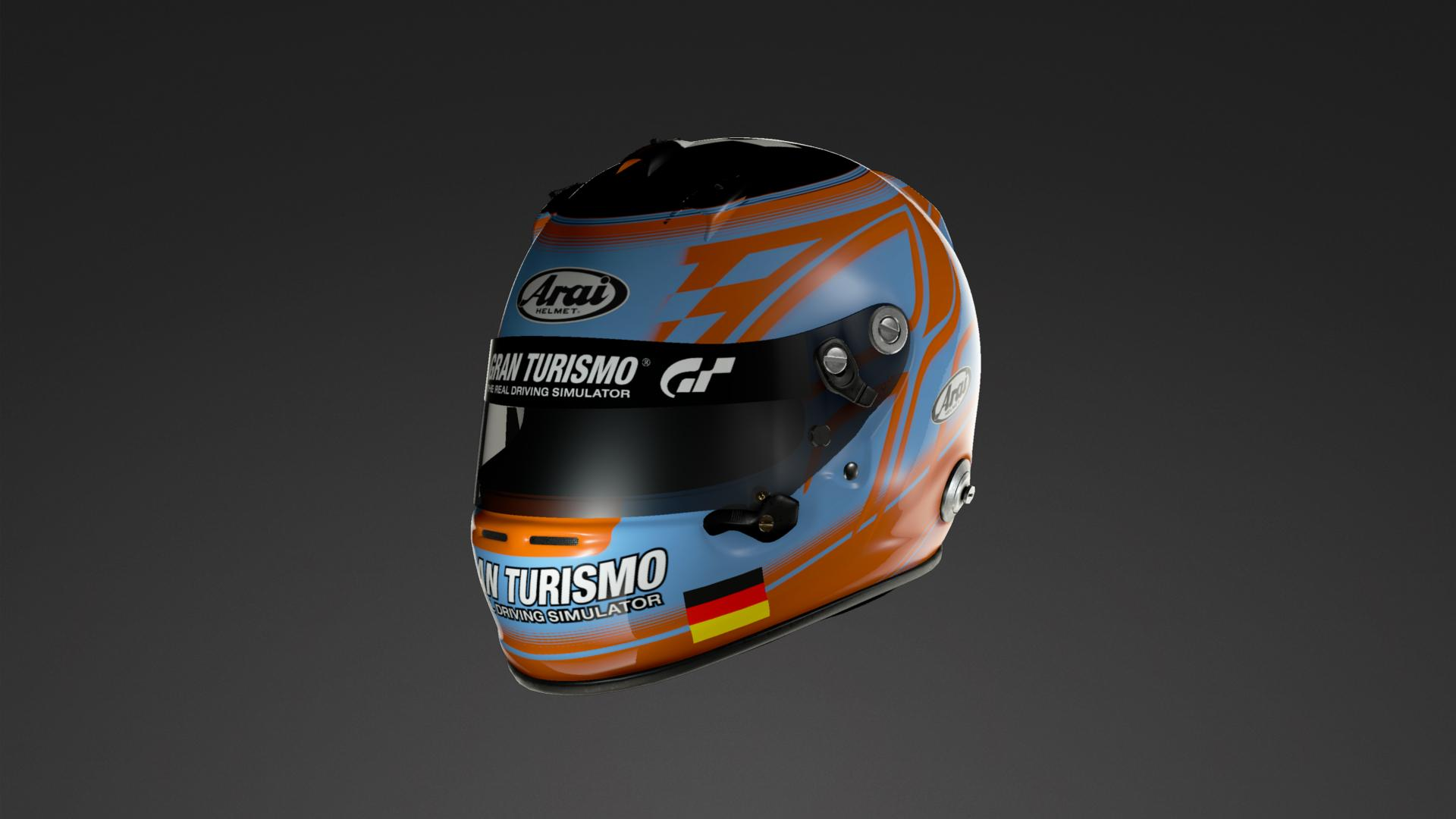 Gulf Helmet Org Colors Helmet Livery By Contract Nr 7 Community Gran Turismo Sport