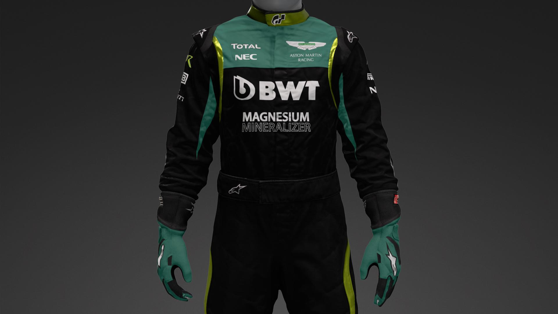 Aston Martin 2021 Vettel Concept Suit Livery By Tommywtf1 Community Gran Turismo Sport