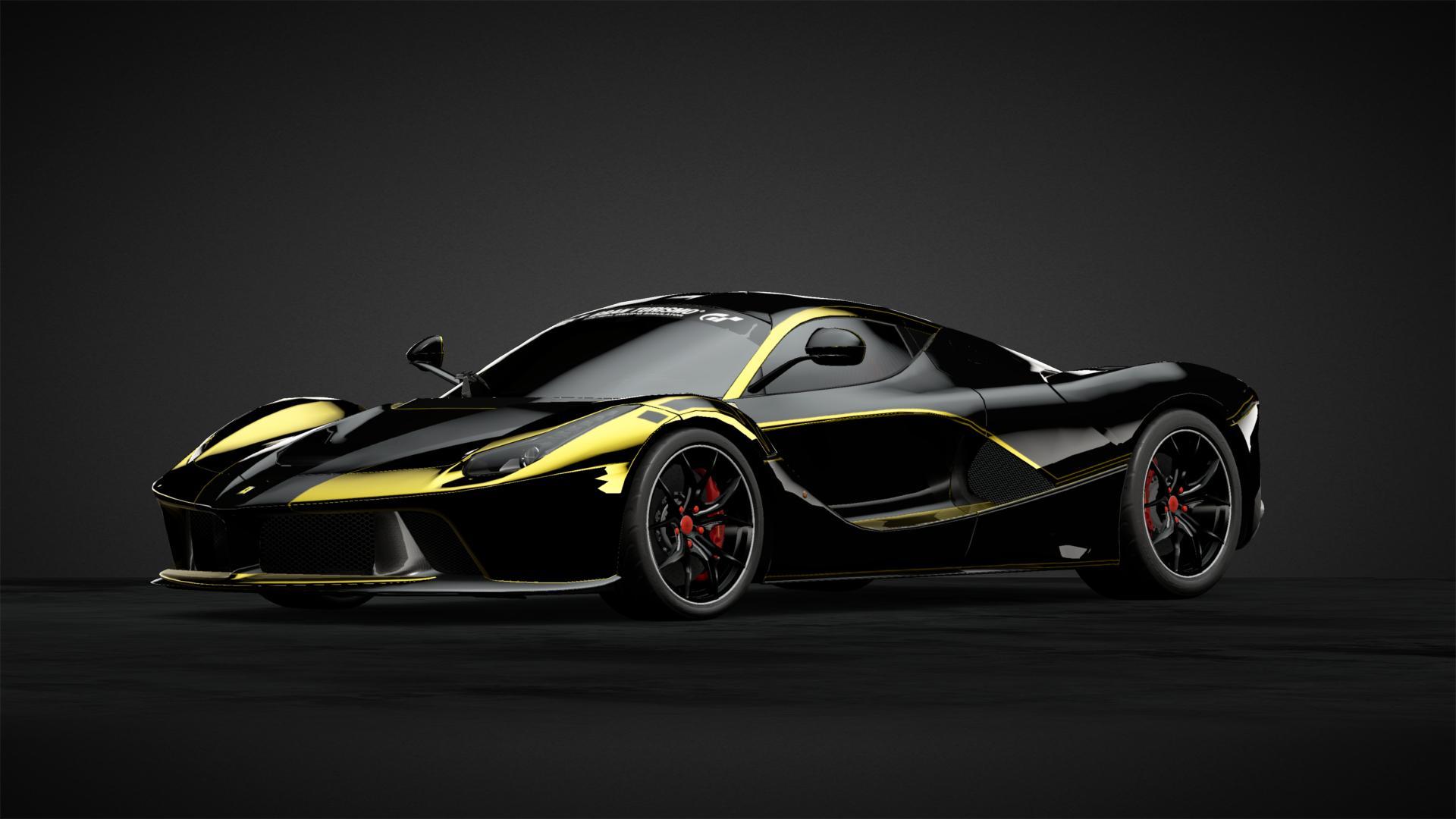 La Ferrari Black Gold Car Livery By Try Mph Community Gran Turismo Sport