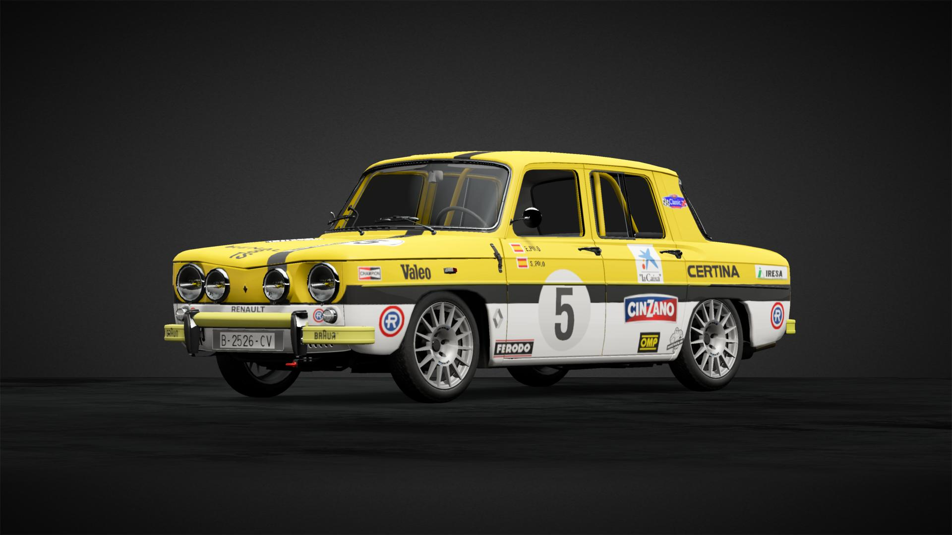 Renault 8 Ts Amarillo Car Livery By Bypoliccyo23 Community Gran Turismo Sport