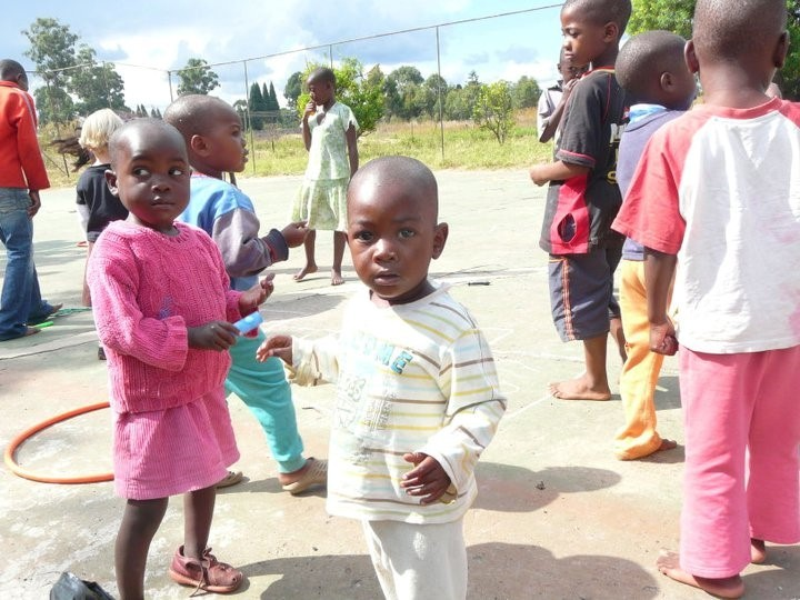 Young Kids at Just Children Foundation in Harare, Zimbabwe.