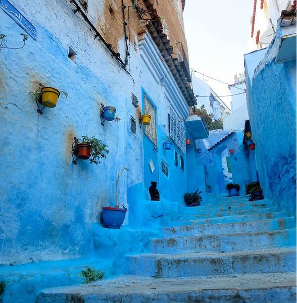 Town of Chefchaouen Famous for Its Blue Walls