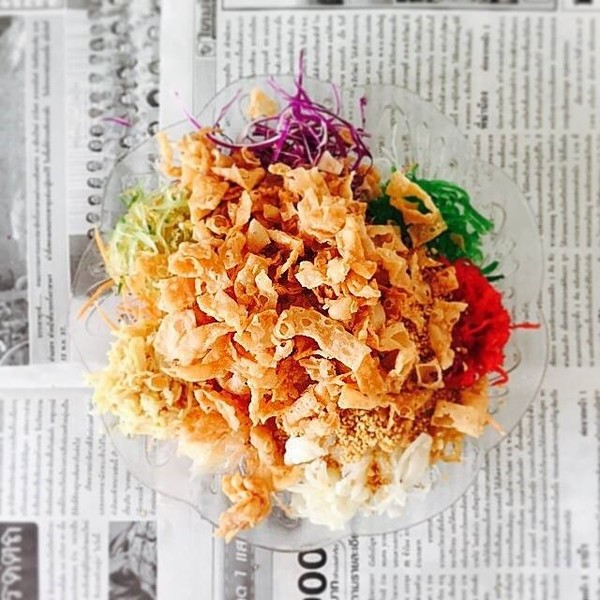 My yee sang on Chinese New Year 2015.
