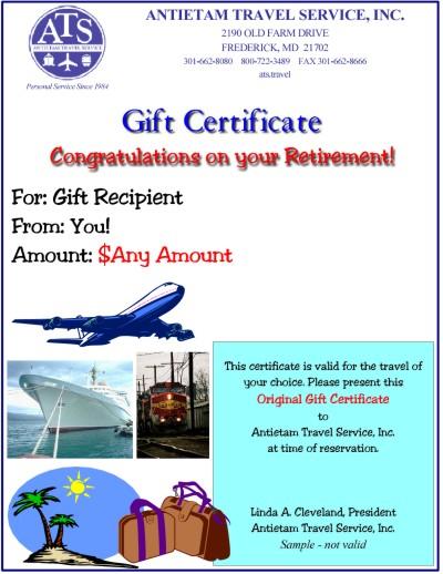 Travel Gift Certificates