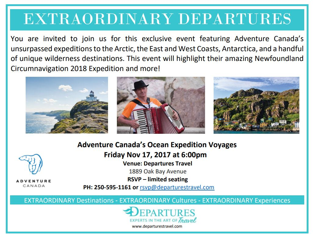 Adventure Canada Invite