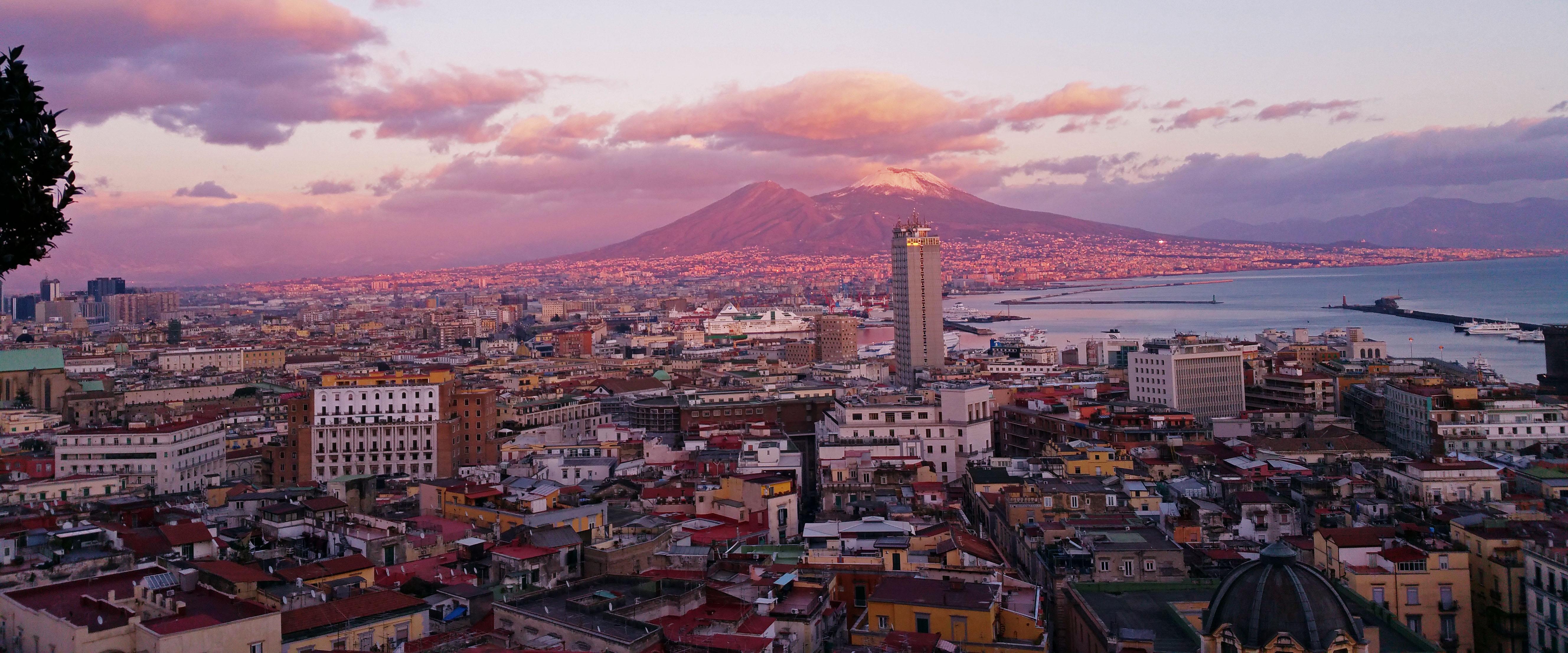 Vesuvius from Naples, Italy