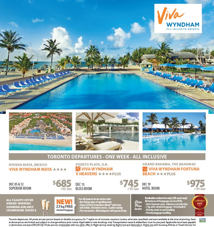 Save On Viva Wyndham All Inclusive Resorts Vacations