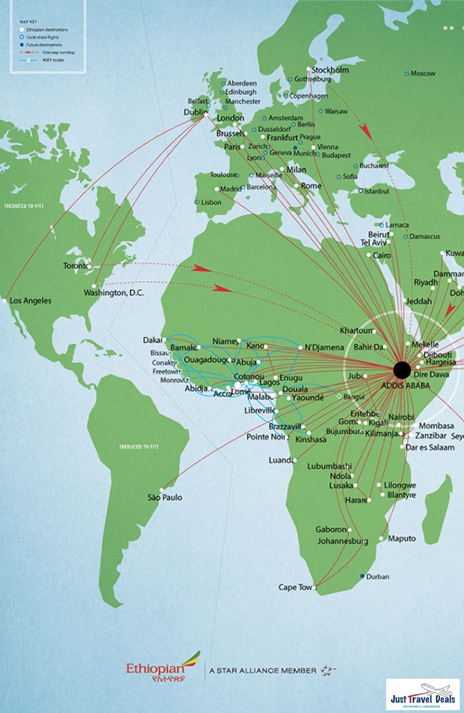Ethiopian Airlines Connecting North America To 52